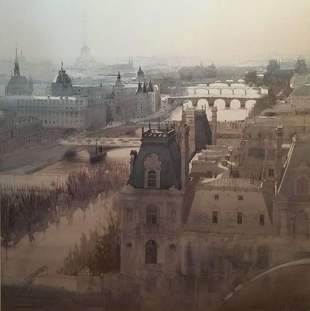 акварель Шарля Вильнёва