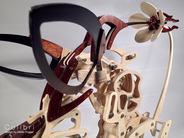 деревянная модель колибри