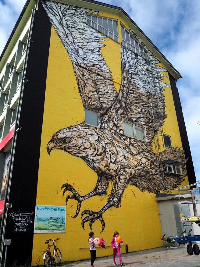 Уличная фреска художника из Антверпена Dzia