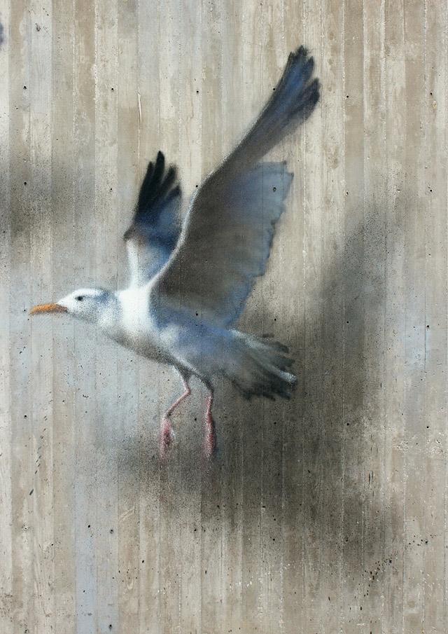 Чайка (фрагмент панно)