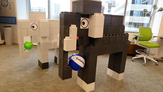 Сборная конструкция из блоков EverBlock