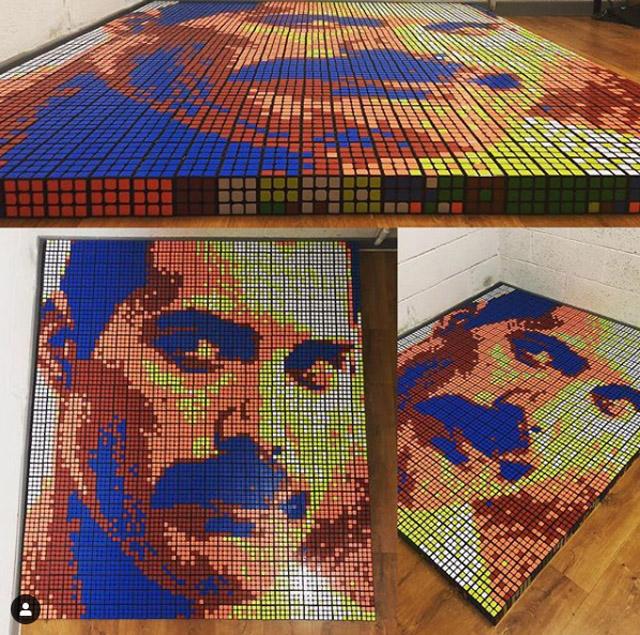 """Портрет из """"кубиков Рубика"""""""