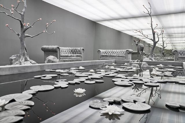 Инсталляция «The Garden Room» («Садовая комната») Ханса Оп де Бека (Hans Op de Beeck)