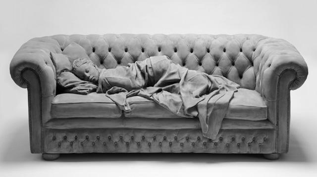 скульптурная работа Ханса Оп де Бека (Hans Op de Beeck)