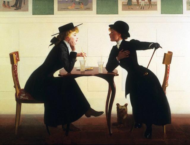 Картина американского художника Гарри Уилсона Уотроуса (Harry Willson Watrous) «Был небольшой разговор обо мне и тебе» около 1905–09 гг