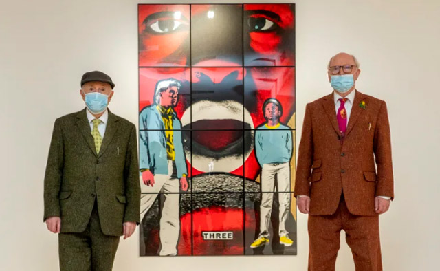 Installation view, Gilbert & George Works from a Private Collection (Ben Brown Fine Arts London, 6 October - 6 November 2020). Photo credit Jeff Moore.
