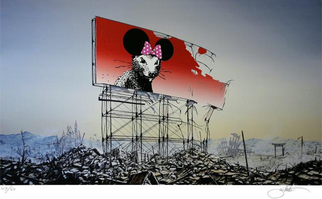 "Jeff Gillette ""Banksy Minnie Nagasaki"" (2016), фото_Artsy"