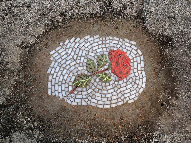 Уличная мозаика Джима Бахора
