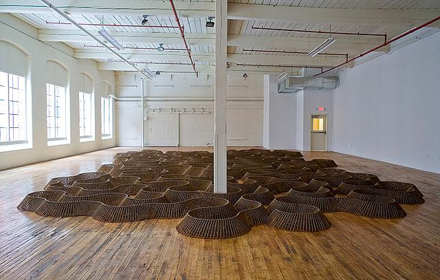 масштабная инсталляция из гвоздей, автор Д. Бизби (США)