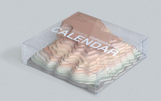 Calendar Land Rover Topographic 2014