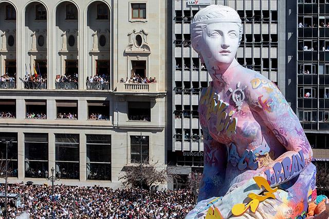 Скульптура для фестиваля Фальяс