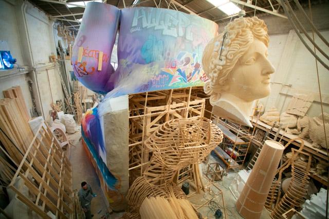 создание макета скульптуры для фестиваля Фальяс