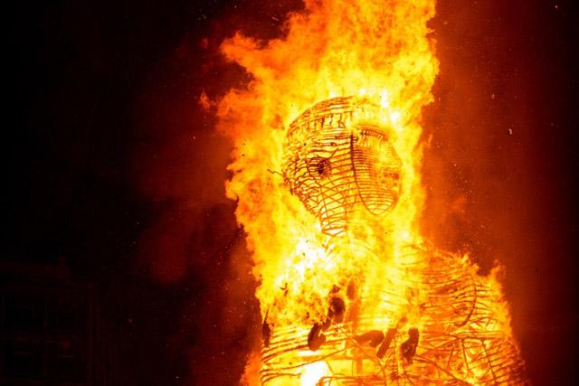 Сожжение скульптуры