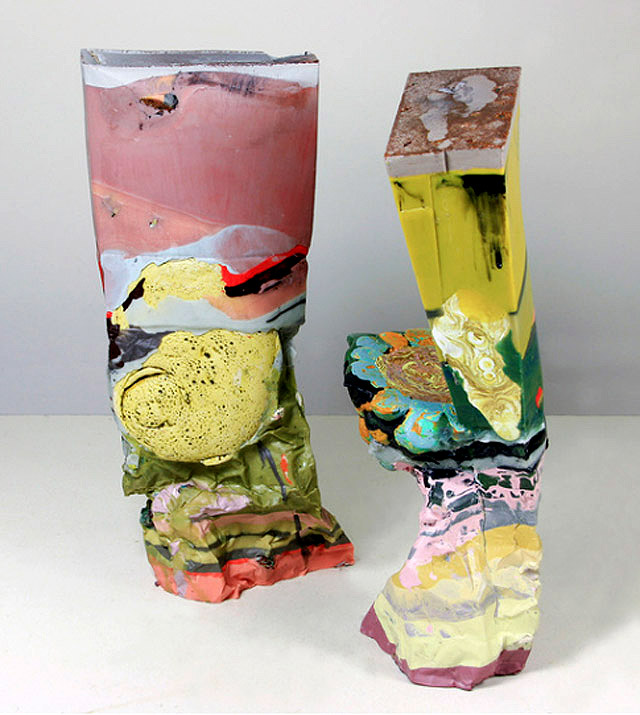 скульптурная живопись Лауры Мориарти (США)