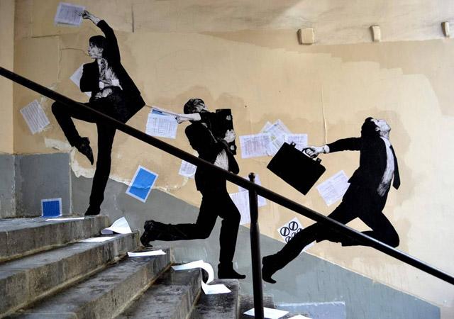 Work by Charles Leval (Levalet)