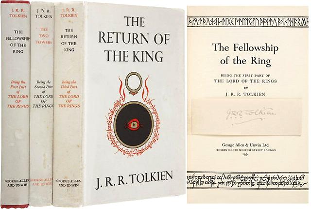 """Первое издание трилогии Толкиена """"Властелин колец"""" (1954)"""