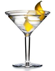 Сухой мартини с лимонной цедрой