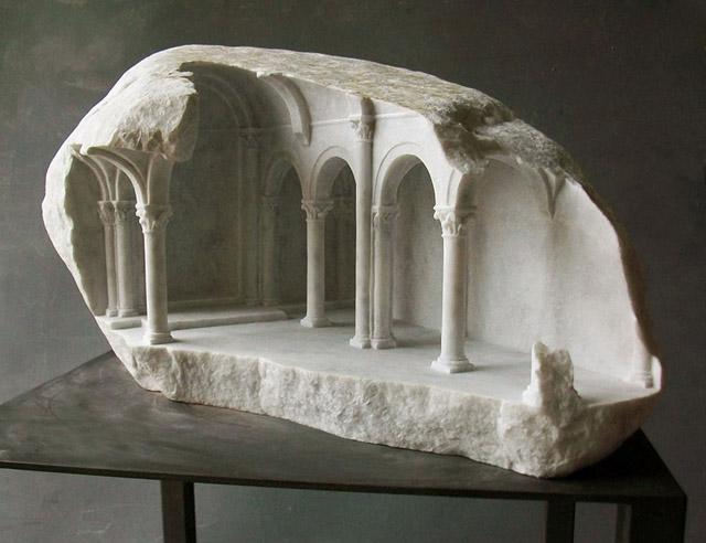 архитектурный макет из мрамора