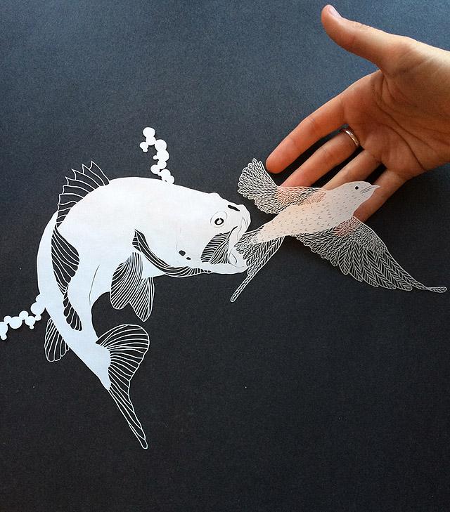 Бумажная каллиграфия Мод Уайт
