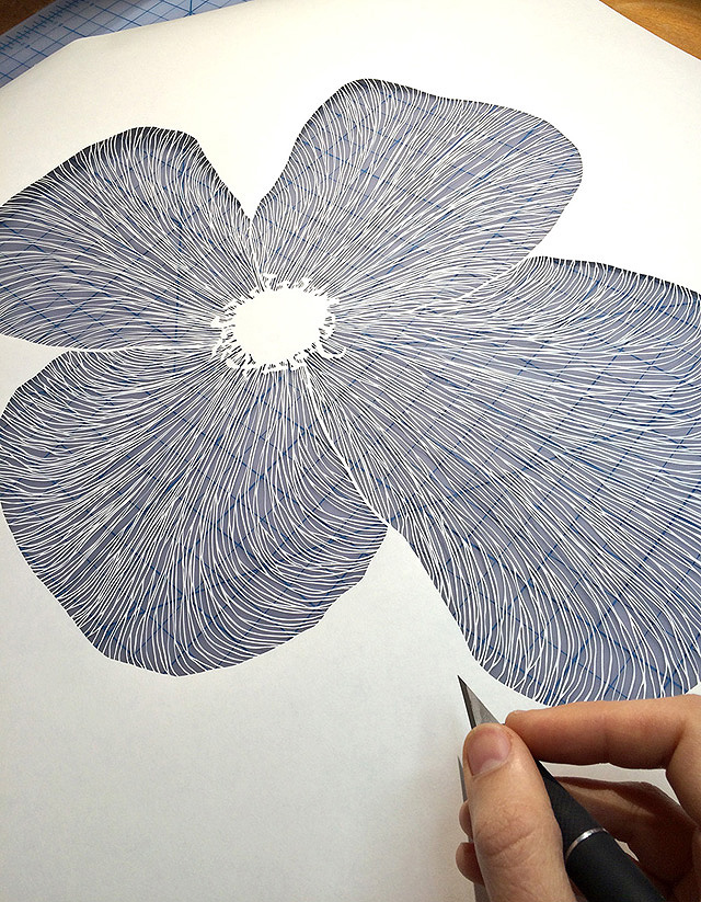 работа из бумаги - Мод Уайт (США)