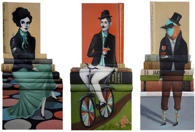 Книжные инсталляции Майка Стилки