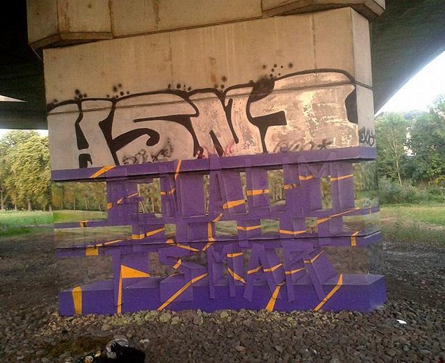 прозрачные граффити