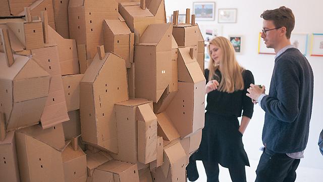 фрагмент картонного города