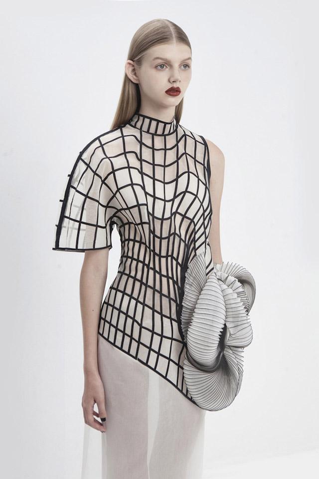 геометрическая абстракция в одежде (Ноа Равив, Израиль)