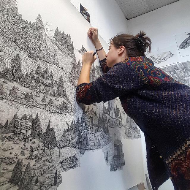 Английская художница Оливия Кемп