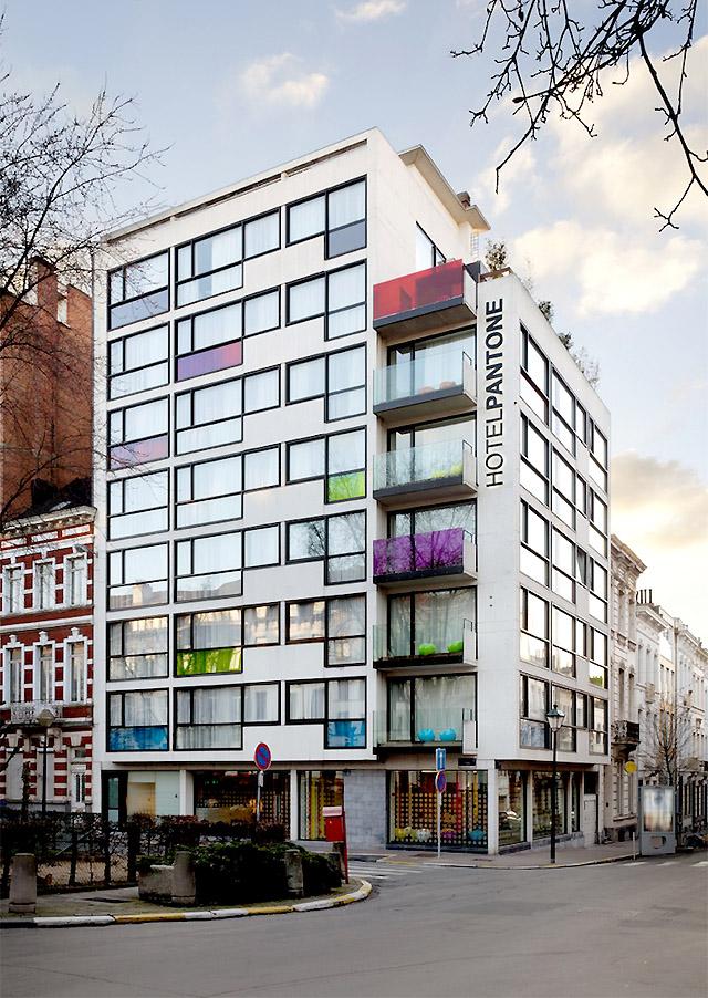 Пантон-отель в Брюсселе (внешний вид)