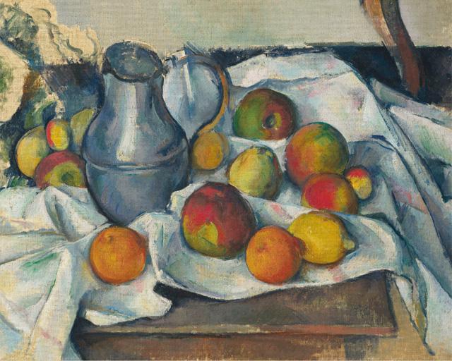 Paul Cezanne_Bouilloire et fruits (1888-1890)