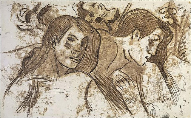 Paul Gauguin_Two Marquesans (1902), фото: © Trustees of the British Museum