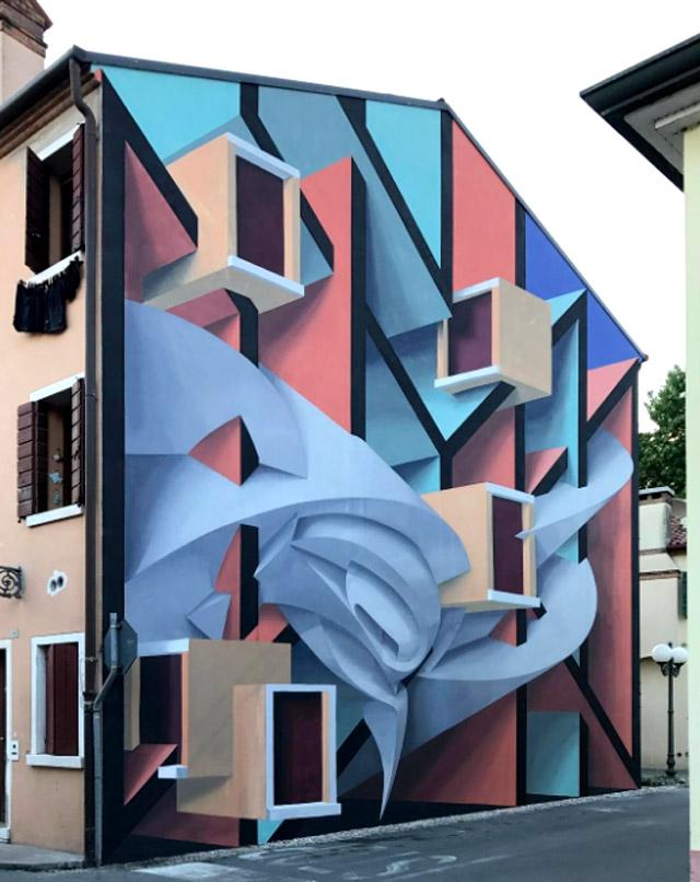 Работа итальянского художника Мануэля Ди Риты, более известного как Peeta