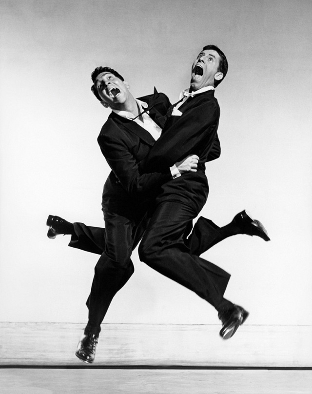 Photography by Philippe Halsman for Dean Martin & Jerry Lewis, 1951