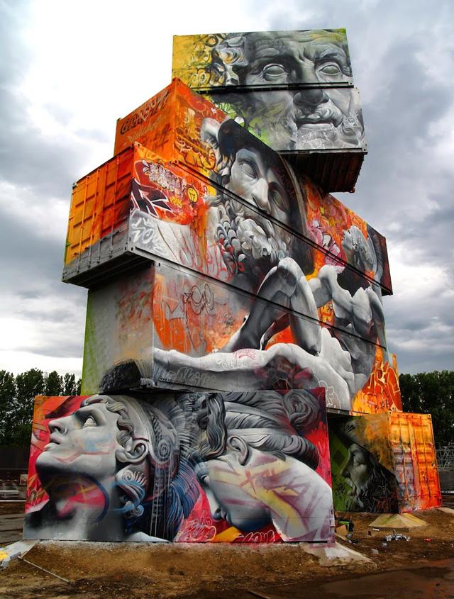 Панно с фестиваля North West Walls Street Art Festival in Werchter 2014
