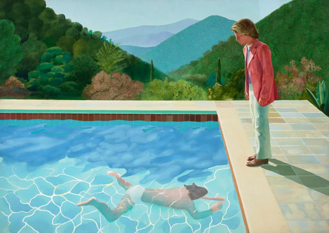 Portrait of an Artist (Pool With Two Figures), 1972, Photograph - Art Gallery of New South Wales, Jenni Carter, David Hockney