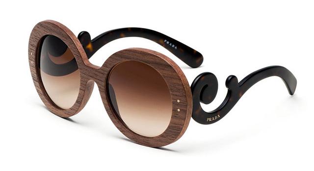 деревянные очки Прада