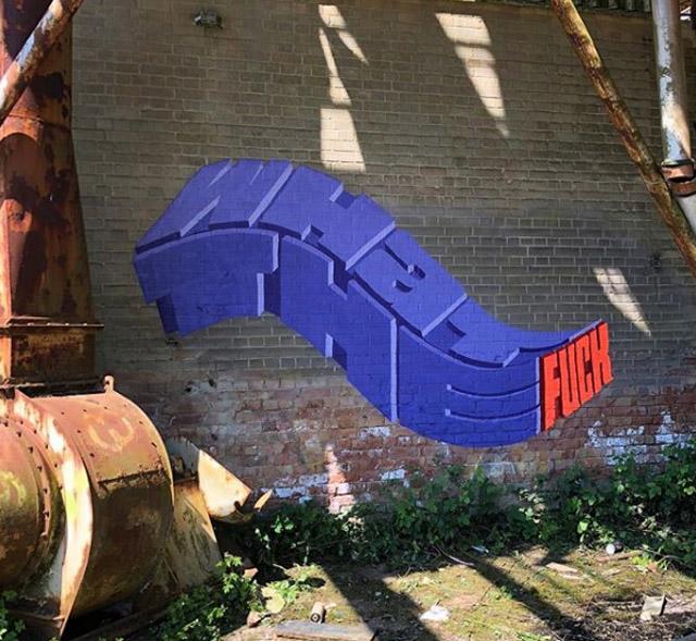Граффити британского художника Pref'а