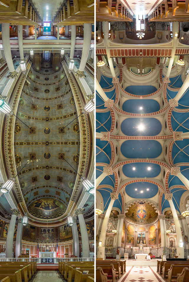 вертикальные панорамы нью-йоркских церквей