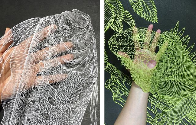 Работы японской художницы Рики Фукуды (a.k.a. Kiri Ken)