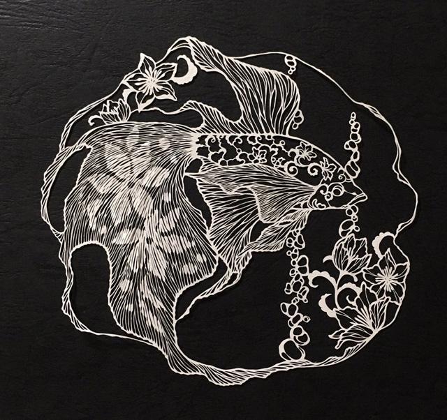 Работа японской художницы Рики Фукуды (a.k.a. Kiri Ken)