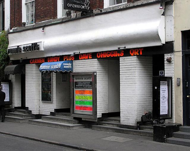 Ronnie Scott's Jazz Club at 47 Frith Street, Soho, London