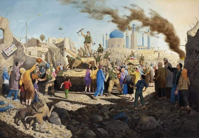 Sandow Birk_The Liberation of Baghdad (2009)