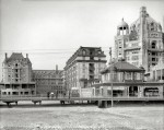 The Atlantic City Boardwalk circa 1908 Dennis and Marlborough-Blenheim hotels