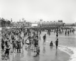 The Jersey Shore circa 1908 Atlantic City bathing beach and Steeplechase Pier