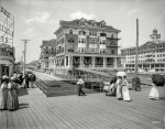 The Jersey Shore circa 1910. St. Charles and Rudolf hotels, Atlantic City