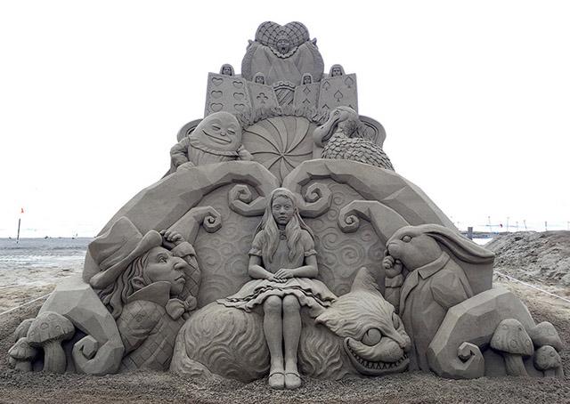 Песочная скульптура Тошихико Хосака
