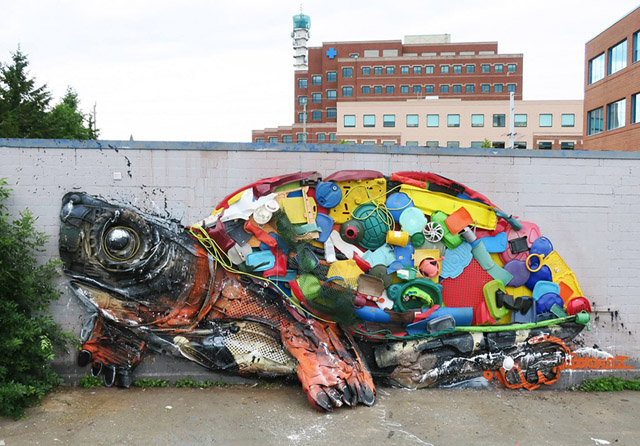 Work by Bordalo II
