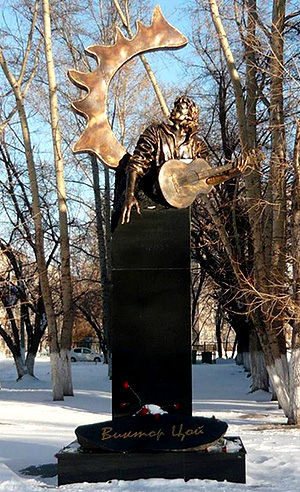 Памятник Виктору Цою в Барнауле
