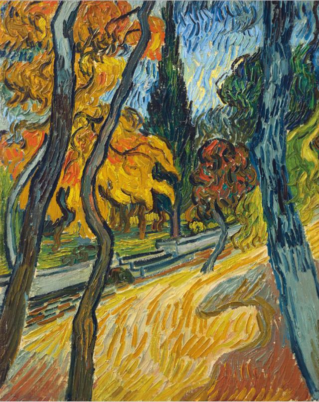 Vincent van Gogh_Arbres dans le jardin de l'asile (1889)